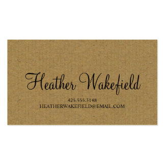 Simply Kraft Calling Card Business Card Templates