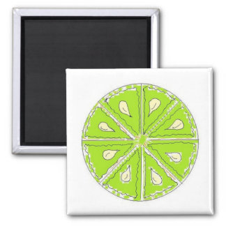 Simply Lime Square Magnet