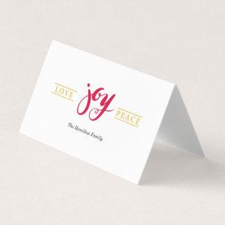 Simply Love Joy Peace Folded Card