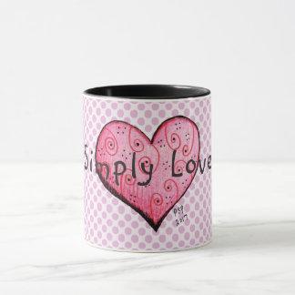 Simply Love Little Pink Heart Coffee Mug