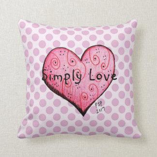 Simply Love Little Pink Heart Throw Pillow