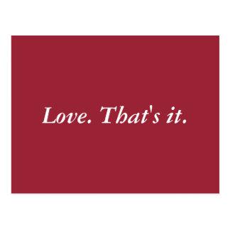 Simply Love Postcard