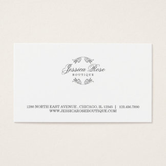 Simply Luxurious Boutique-Style Business Card