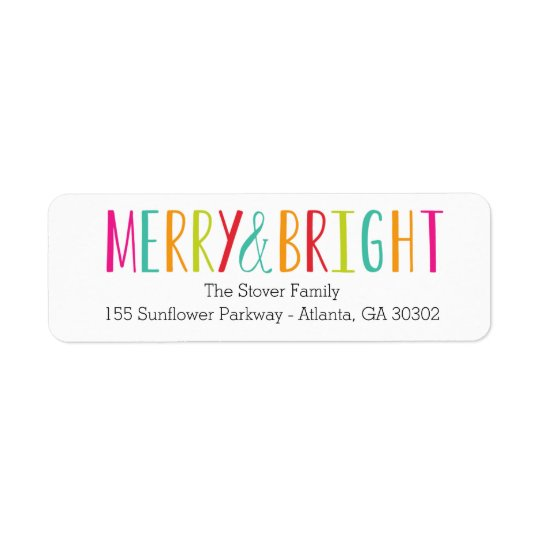 Simply Merry & Bright Holiday Address Labels