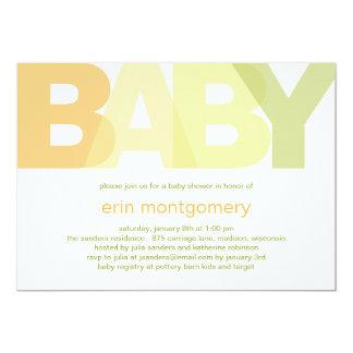 Simply Modern Baby Shower Invitation - Neutral