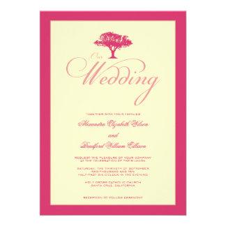 Simply Nature Fuschia Tree Formal Wedding Invite