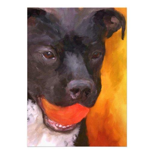Simply Orange Dog 5x7 Mini Prints Personalized Invitation