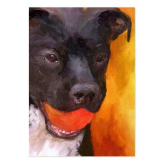Simply Orange Dog Profile Business Cards