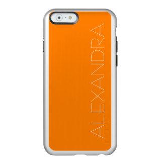 Simply Orange Solid Color Incipio Feather® Shine iPhone 6 Case