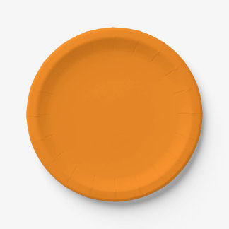 Simply Orange Solid Colour Paper Plate