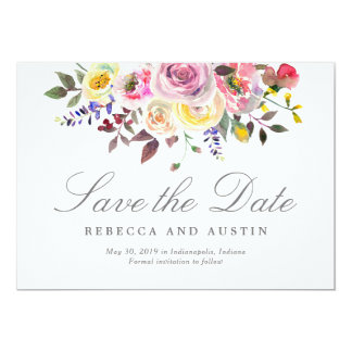 Simply Pretty Wedding Save The Date Card