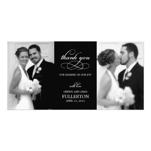 Simply Pretty Wedding Thank You Photo Cards Picture Card