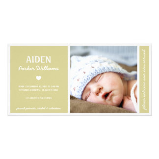 SIMPLY PURE | BABY BIRTH ANNOUNCEMENT PERSONALISED PHOTO CARD