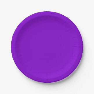 Simply Purple Solid Colour 7 Inch Paper Plate