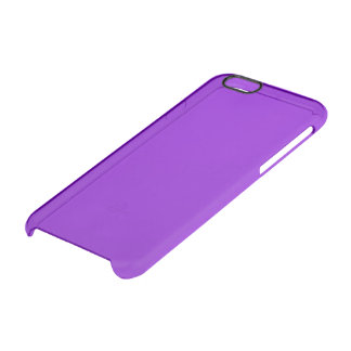 Simply Purple Solid Colour Clear iPhone 6/6S Case