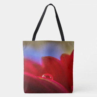 Simply Put a macro pic water droplet on daisy Tote Bag