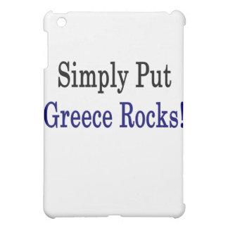 Simply Put Greece Rocks iPad Mini Cover