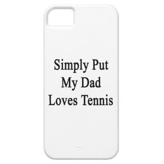 Simply Put My Dad Loves Tennis iPhone 5 Case