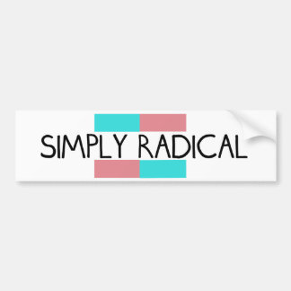 Simply Radical Logo Bumper Sticker