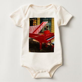 Simply red: grand piano baby bodysuit