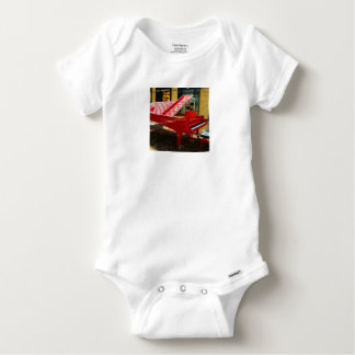 Simply red: grand piano baby onesie