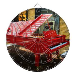 Simply red: grand piano dartboard