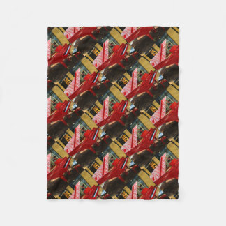 Simply red: grand piano fleece blanket