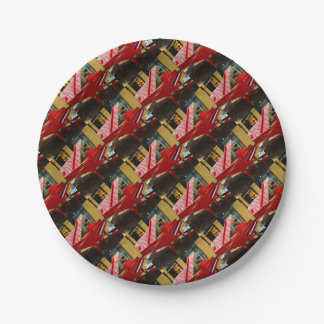 Simply red: grand piano paper plate