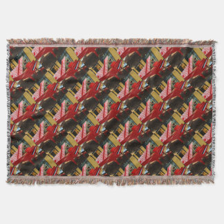 Simply red: grand piano throw blanket