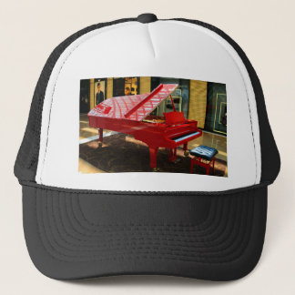 Simply red: grand piano trucker hat