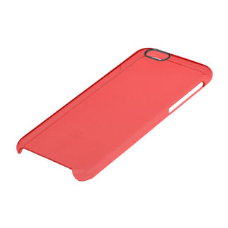 Simply Red Solid Colour Clear iPhone 6/6S Case