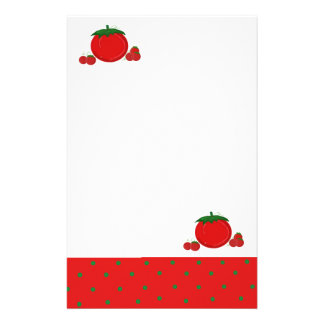 Simply Red Tomatoes Stationery Paper