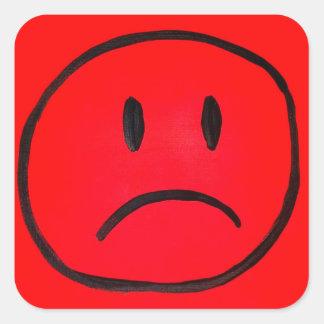 simply sad square sticker