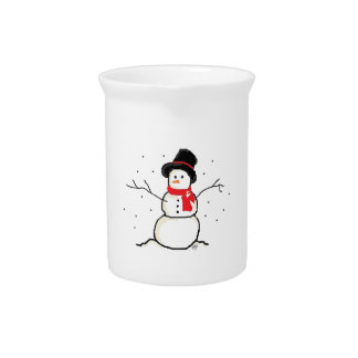 Simply Snowman Pitcher