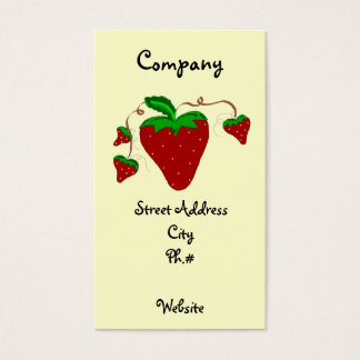 Simply Strawberries Business Card