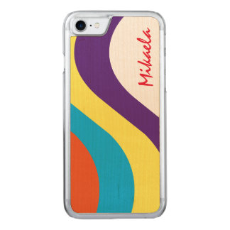 Simply Striped Carved iPhone 7 Case