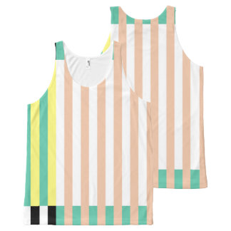 simply stripes mint dusty All-Over print singlet