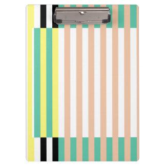 simply stripes mint dusty clipboard
