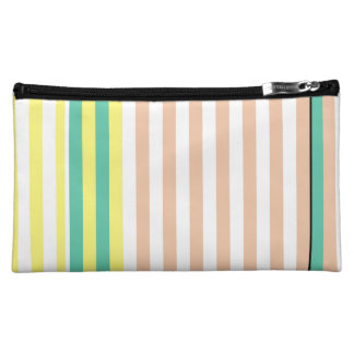simply stripes mint dusty cosmetic bag