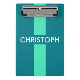 Simply Stripes mint + your name / ideas Mini Clipboard