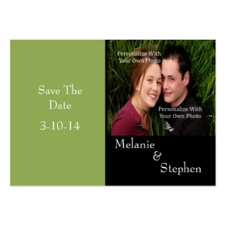Simply Stunning Nature Green Photo Save The Date Pack Of Chubby Business Cards