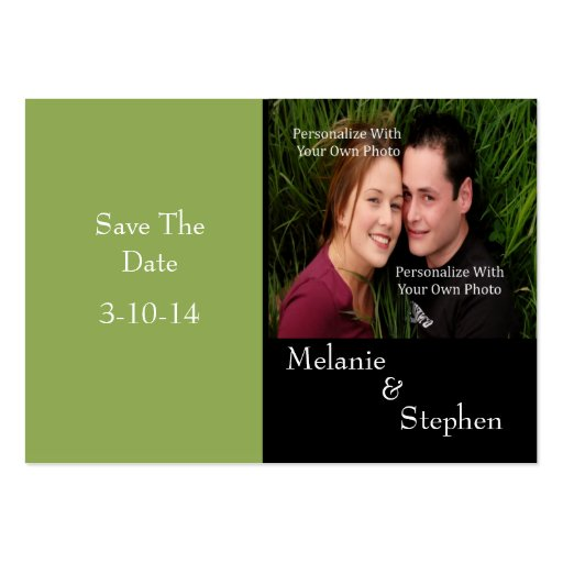 Simply Stunning Nature Green Photo Save The Date Business Card
