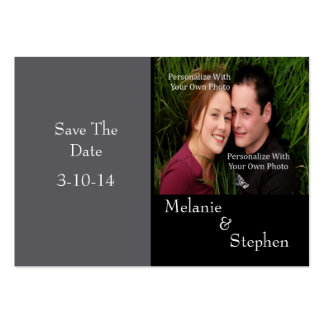 Simply Stunning Smokey Grey Photo Save The Date Business Card Template