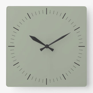 SIMPLY STYLE | minimalist hours and minutes Square Wall Clock