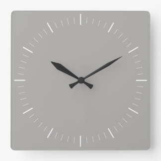 SIMPLY STYLE | minimalist in any colour Square Wall Clock