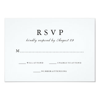 Simply Stylish | Black and White Wedding Response Card