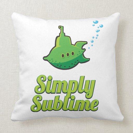 Simply Sublime. Throw Pillows