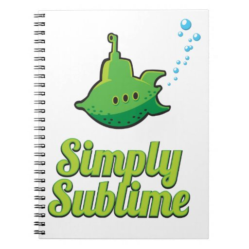 Simply Sublime. Spiral Notebook