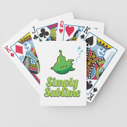 Simply Sublime. Bicycle Card Deck