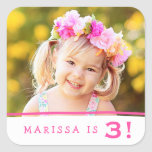 Simply Sweet Personalised Photo Birthday Stickers